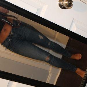 Ashley Mason Distressed Skinny Jeans
